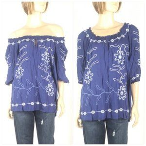 Convertible Off Shoulder Peasant Top NY Collection
